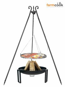 Farmcook grill Viking with fire bowl 36 black steel grate 60/70/80 cm