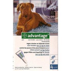 Advantage Hond 400 4 Pipetten