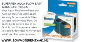 SuperFish - Aqua-Flow 100 Filter Easy Click Cassette 2 stuks