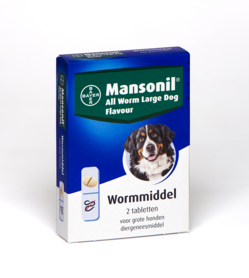 Bayer Mansonil All Worm Large Dog Flavour 2 Tabletten