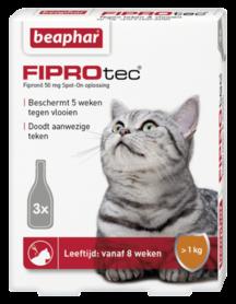 Beaphar Fiprotec Spot-On kat tot 1 kg 3 pipetten