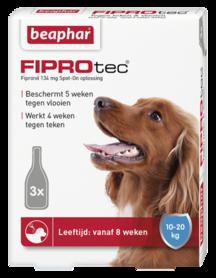 Beaphar Fiprotec Spot-On hond 10-20 kg 3 pipetten