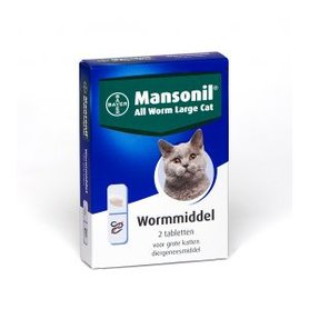 Bayer Mansonil All Worm Large Cat 2 tabletten