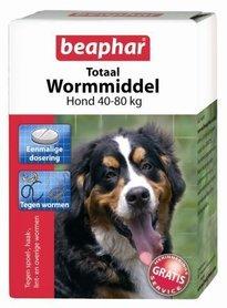 Beaphar totaal wormmiddel xl (40-80kg)