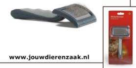 Slickerborstel voor Kat Middel Met Soft-Grip Grijs 16.5 Cm