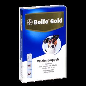 Bolfo Gold Hond 100 4 Pipetten