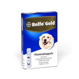 Bolfo Gold Hond 250 2 Pipetten