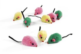 Beeztees speelmuisjes multicolor 9 st
