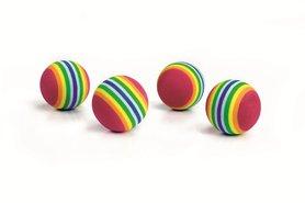 Beeztees zachte speelballetjes de luxe 4 st