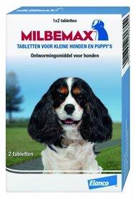Milbemax tabletten voor kleine honden en puppy's 2 stuks
