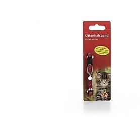 Beeztees kittenhalsband rood/zwart