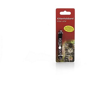 Beeztees kittenhalsbandje bruin/wit