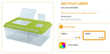 Geo Flat Large 46.7x30.5x17.5cm 8 Liter Mixed Colours