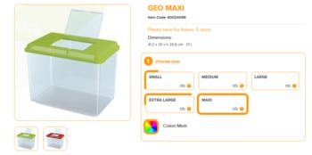 Geo Maxi 41.3x26x29.8cm 21 Liter Mixed Colours