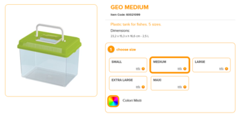 Geo Medium 23.2x15.3x16.6cm 2.5 Liter Mixed Colours