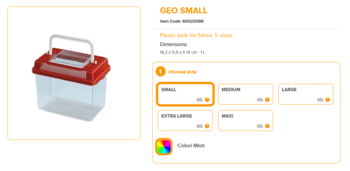 Geo Small 18.2x11.5x14cm 1 Liter Mixed Colours