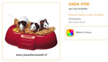 Ferplast - Dada 4706 Hamster Voerbakje 16,5 x 11,5 x 3,5 cm