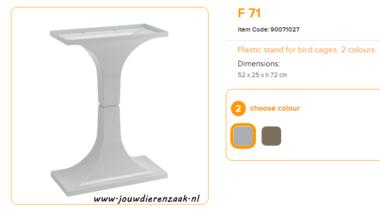 Ferplast - F71 Standaard Marmer 52 x 25 x 72 cm