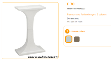 Ferplast - F70 Standaard Marmer 44 x 23,5 x 72 cm