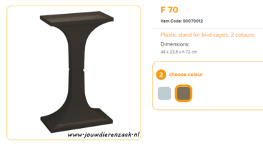 Ferplast - F70 Standaard Bruin 44 x 23,5 x 72 cm