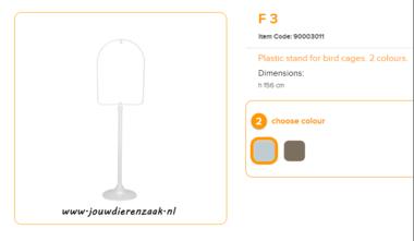 Ferplast - F3 Standaard Wit 156 cm