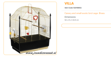 Ferplast - Villa Messing 50 x 31 x 63,5 cm