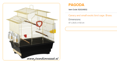 Ferplast - Pagoda Messing 47 x 29,5 x 50 cm