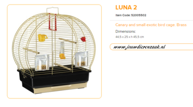 Ferplast - Luna 2 Messing 45 x 25 x 45,5 cm