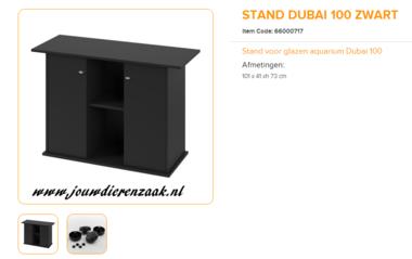 Ferplast - Meubel Dubai 100 Zwart 101x41x73cm