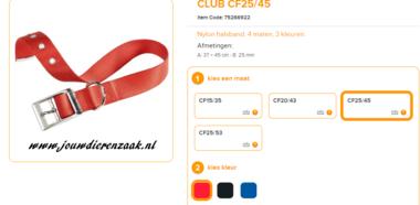 Ferplast - Nylon Halsband Club met Gesp Rood 37-45cm - 25mm