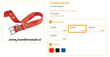 Ferplast - Nylon Halsband Club met Gesp Rood 35-43cm - 20mm