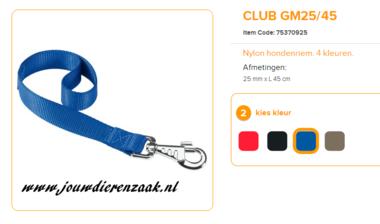 Ferplast - Nylon Lijn Korthouder Club  Blauw 45cm - 25mm