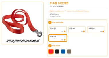 Ferplast - Nylon Lijn Club Rood 120cm - 25mm