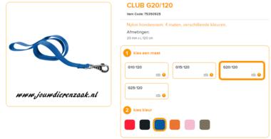 Ferplast - Nylon Lijn Club Blauw 120cm - 20mm