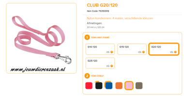 Ferplast - Nylon Lijn Club Roze 120cm - 20mm