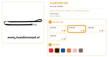 Ferplast - Nylon Lijn Club Zwart 120cm - 15mm