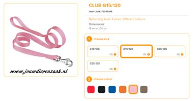Ferplast - Nylon Lijn Club Roze 120cm - 15mm
