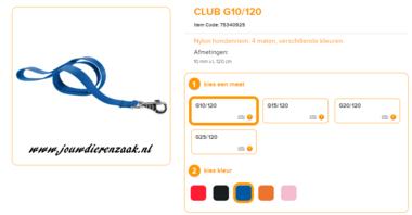 Ferplast - Nylon Lijn Club Blauw 120cm - 10mm