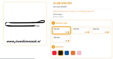 Ferplast - Nylon Lijn Club Zwart 120cm - 10mm