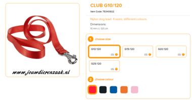 Ferplast - Nylon Lijn Club Rood 120cm - 10mm