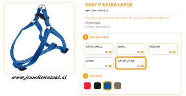 Ferplast - Easy Tuig Blauw Extra Large 62-90cm - 25mm