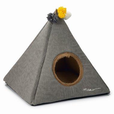 Beeztees Textiele Kattentent Piramido 45x45x45cm (grijs)