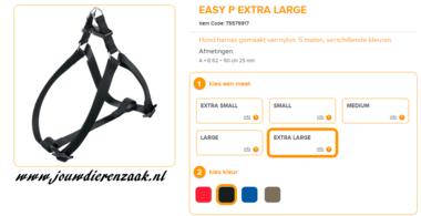Ferplast - Easy Tuig Zwart Extra Large 62-90cm - 25mm