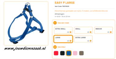 Ferplast - Easy Tuig Blauw Large 50-78cm - 20mm