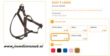 Ferplast - Easy Tuig Bruin Large 50-78cm - 20mm