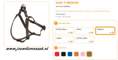 Ferplast - Easy Tuig Bruin Medium 42-60cm - 15mm