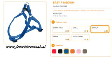 Ferplast - Easy Tuig Blauw Medium 42-60cm - 15mm