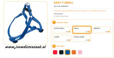 Ferplast - Easy Tuig Blauw Small 36-54cm - 10mm