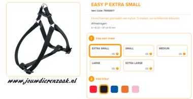 Ferplast - Easy Tuig Zwart Extra Small 32-47cm - 10mm