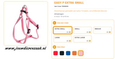 Ferplast - Easy Tuig Roze Extra Small 32-47cm - 10mm